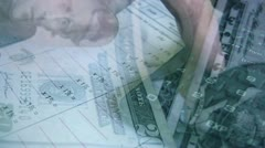 Calculating money Stock Footage