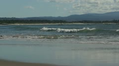 Small waves on sand - stock footage
