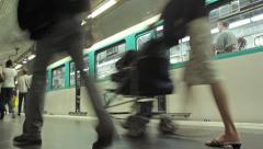 Subway timelapse - stock footage