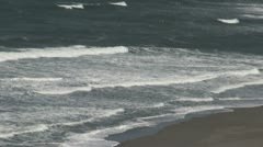 Oregon Coast waves on beach Stock Footage