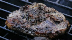 Lamb Chop On Barbecue Stock Footage