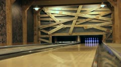 Private Bowling Alley Stock Footage