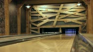 Stock Video Footage of Private Bowling Alley