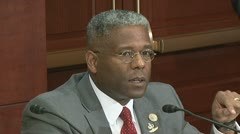Black fiscal responsibility - U.S Congressman Allen West Stock Footage