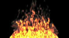 Animated fire 4 Stock Footage