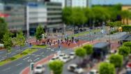 Stock Video Footage of 10699 city people walk tilt shift time lapse