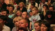 Listening crowd Stock Footage
