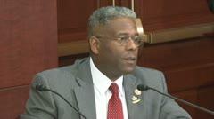 (1) lazy unemployed Americans - U.S Congressman Allen West Stock Footage