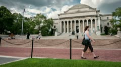 Stock Video Footage of Columbia University Campus in Manhattan, New York City, USA