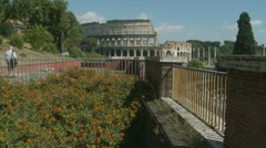 Colosseum slow zoom from outlook (2) Stock Footage