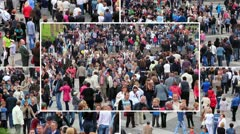 Crowd of people montage Stock Footage