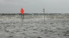 Flooded Street & Rough Water - stock footage