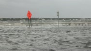 Flooded Street & Rough Water Stock Footage