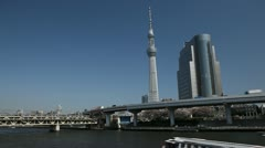 Time Lapse of Tokyo Skytree in Japan, The Tallest Tower in the World Sky Tree - stock footage