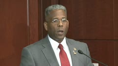 4 conservative principles - U.S Congressman Allen West - stock footage