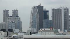 Aerial View of Shinjuku Skyscrapers in Tokyo, Modern Buildings - stock footage