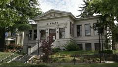 948 generic old library built in 1912 two Stock Footage