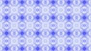 Blue Kaleidoscope Background Footage Stock Footage
