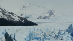 Glacier Perito Moreno in National Park Stock Footage