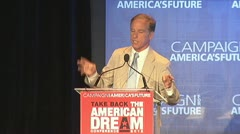 2 of 3 Governor Howard Dean Stock Footage