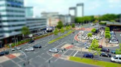 10701 city traffic 002 tilt shift time lapse - stock footage