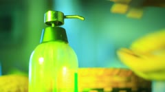 Antibacterial gel antibacteria wash washing hands clean Stock Footage