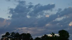 Timelapse of evening sky and clouds Stock Footage