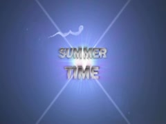 Summer time text blue OK 320x240 Stock Footage