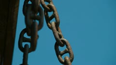 Chain Links Stock Footage