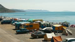 Camping Area Stock Footage