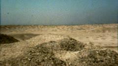 Egypt Desert Landscape Panorama - Vintage Super 8mm Film Stock Footage