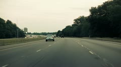 Highway Driving Normal Speed Stock Footage