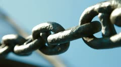 Stock Video Footage of Chain Links