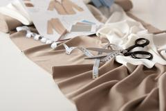 fashion designer studio with professional equipment - stock photo