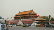 Stock Video Footage of Tiananmen Square in center of Beijing, China, Gate to Forbidden City