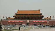 Stock Video Footage of Air Pollution Traffic Jam, Center Beijing China Forbidden City, Tiananmen Square