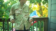 Stock Video Footage of iraq soldier army vet veteran US USA 4th july