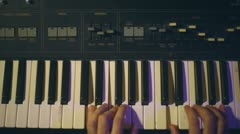 Keyboard piano key board keys Stock Footage