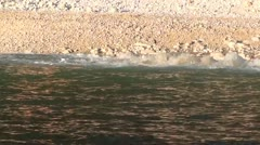 Beach view from the sea Stock Footage