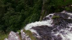 Pistyll Rhaeadr Waterfall, Powys, Wales Stock Footage