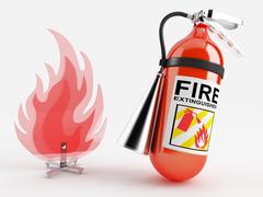 fire extinguisher - stock illustration