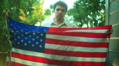 Sad american america USA us - stock footage