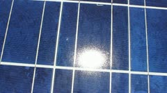 Solar Panel Light Stock Footage