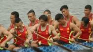 Stock Video Footage of Dragon Boat Racing in Hong Kong