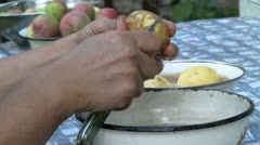 Potato peeling Stock Footage