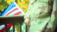 War veteran vet iraq Stock Footage