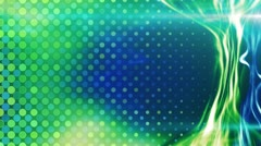 Blue green energy light beam flowing loop Stock Footage