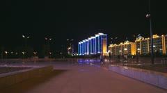 Heihe Evening Promenade 05 Stock Footage