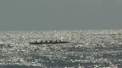 Hawaii Outrigger Canoe - stock footage