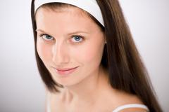 Stock Photo of portrait of beautiful brunette woman